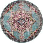 Charleena Blue Area Rug Rug Size: Round 8'