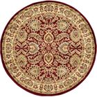 Fairmount Traditional Red Oriental Area Rug Rug Size: Round 6'