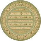 Foret Noire Light Green Area Rug Rug Size: Round 8'