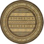 Foret Noire Brown Area Rug Rug Size: Round 6'