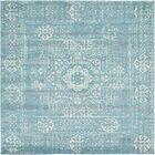 Delgado Brook Light Blue Area Rug Rug Size: Square 8'4