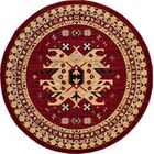 Valley Red Area Rug Rug Size: Round 8'