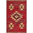 Bhakta Red/Beige Area Rug Rug Size: Rectangle 7' x 10'