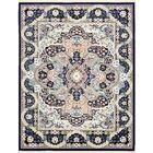 Quince Navy Blue/Ivory Area Rug Rug Size: Rectangle 8' x 10'