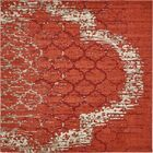 Steinbeck Terracotta Area Rug Rug Size: Square 8'