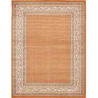 Gillam Orange Area Rug Rug Size: Rectangle 9' x 12'