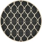 Molly Black Area Rug Rug Size: Round 8'
