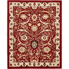 Britannia Red Area Rug Rug Size: Rectangle 8' x 10'