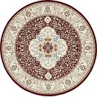 Quince Burgundy Area Rug Rug Size: Round 10'