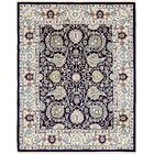 Quince Navy Blue/Tan Area Rug Rug Size: Rectangle 8' x 10'