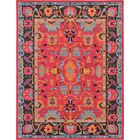 Nerbone Pink Area Rug Rug Size: Rectangle 9' x 12'