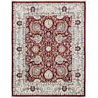 Quince Burgundy/Ivory Area Rug Rug Size: Rectangle 8' x 10'
