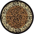 Leif Light Brown Area Rug Rug Size: Round 8'