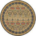 Fonciere Navy Blue Area Rug Rug Size: Round 8'