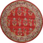 Foret Noire Red Area Rug Rug Size: Round 6'
