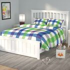 Avocet Panel Bed Size: Queen, Color: White