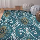 Soluri Blue Area Rug Rug Size: Rectangle 3' x 5'