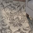 Derby Gray/Ivory Area Rug Rug Size: Rectangle 9'10
