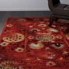 Knox Red/Gold Area Rug Rug Size: Rectangle 7'10