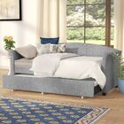 Alvina Upholstered Daybed with Trundle Color: Smoke Gray