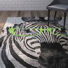 Bakker Zebra in Glasses Area Rug Rug Size: Rectangle 3' x 5'