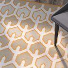 Criss Burnt/Orange Geometric Area Rug Rug Size: Rectangle 3'3