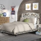 Elisamarie Wingback Linen Upholstered Panel Bed Size: Queen