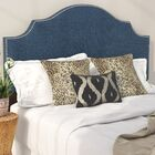 Eduard Nail Button Notched Upholstered Panel Headboard Size: California King, Color: Patriot Blueberry
