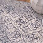 Eibhlin Del Mar Wool Blue/Beige Area Rug Rug Size: 9'2