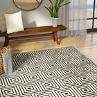 Candor Black/Beige Outdoor Area Rug Rug Size: Rectangle 6'7