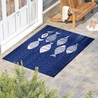Concord Blue/Ivory Indoor/Outdoor Area Rug Rug Size: Rectangle 5' x 7'