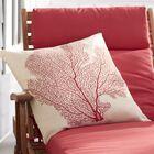 Pebble Creek Indoor Outdoor Throw Pillow Color: Beach Red