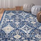 Ameesha Blue Area Rug Rug Size: Rectangle 9' x 12'