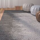 Logan Leather Hand-Woven Light Gray Area Rug Rug Size: Rectangle 8' x 10'