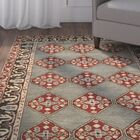 Cranmore Hand-Tufted Gray/Red Area Rug Rug Size: Rectangle 3' x 5'