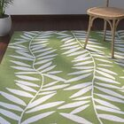 Wallingford Hand Hooked Lime/White Indoor/Outdoor Area Rug Rug Size: Rectangle 8' x 11'