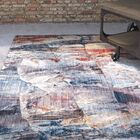 Foresta Abstract Blue/Red Area Rug Rug Size: Runner 2'3