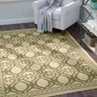 Short Natural/Olive Power Loomed Outdoor Rug Rug Size: Rectangle 5'3
