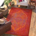 Boxdale Orange/Red Area Rug Rug Size: Rectangle 6' x 9'