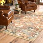 Elan Hand-Woven Red/Beige Area Rug Rug Size: Rectangle 4' x 6'
