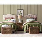 Rockhampton Upholstered Panel Bed Color: Natural Olive Green, Size: Twin