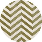 Shellenbarger Wool Herb/White Area Rug Rug Size: Round 6'