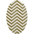 Shellenbarger Wool Herb/White Area Rug Rug Size: Oval 10' x 14'