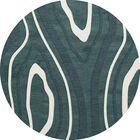 Sarahi Wool Geyser Area Rug Rug Size: Round 8'