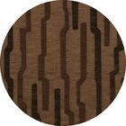 Hartranft Wool Clove Area Rug Rug Size: Round 6'