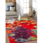 Piatt Mid-Century Abstract Red/Purple Area Rug Rug Size: Rectangle 7'10'' x 9'10''