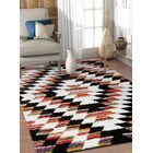 Namboodri Tangier Southwestern Black/Cream Area Rug Rug Size: Rectangle 3'11