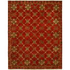 Hershel Hand Knotted Wool Red Area Rug Rug Size: Runner 2'6