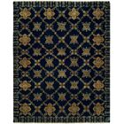 Herzog Hand Knotted Wool Navy Area Rug Rug Size: Rectangle 3' x 5'