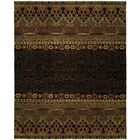 Gofried Hand Knotted Wool Black Area Rug Rug Size: Runner 2'6